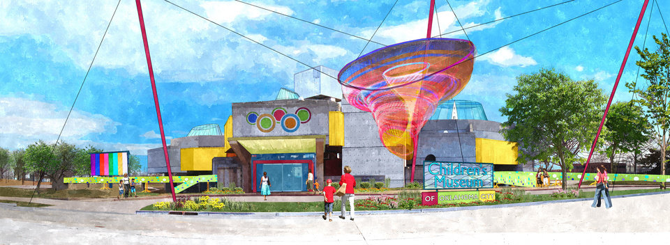 A proposal to convert Stage Center into a children's museum is shown in this conceptual drawing. Drawing provided