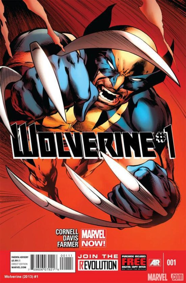 "The cover for the first issue of the Marvel NOW! ""Wolverine"" title, drawn by Alan Davis.  Marvel Comics. <strong></strong>"