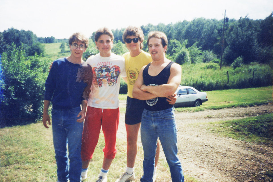Photo - My high school graduation party in 1987. I'm the one on the far left. With me are, from left, Chris Zurinsky, David Henderson and Jim Zurinsky.
