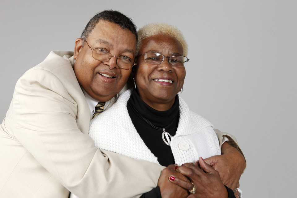 Oleta and George Butler, couple for Marriage Intiative at OPUBCO Monday, Jan. 11, 2010. Photo by Doug Hoke, The Oklahoman