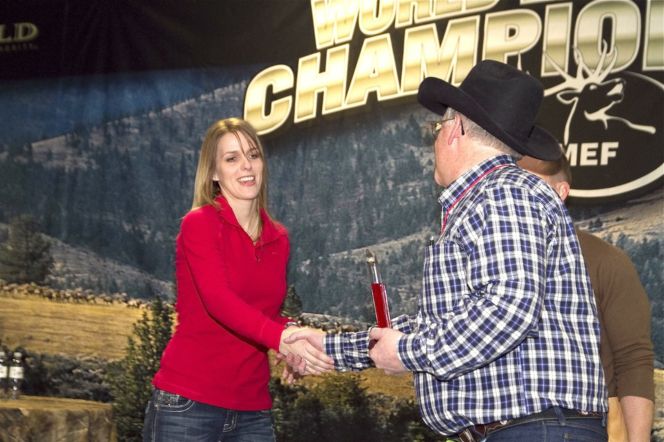 Lindsay Ross of Clayton finished third in the World Elk Calling Championship <strong>Photo provided</strong>