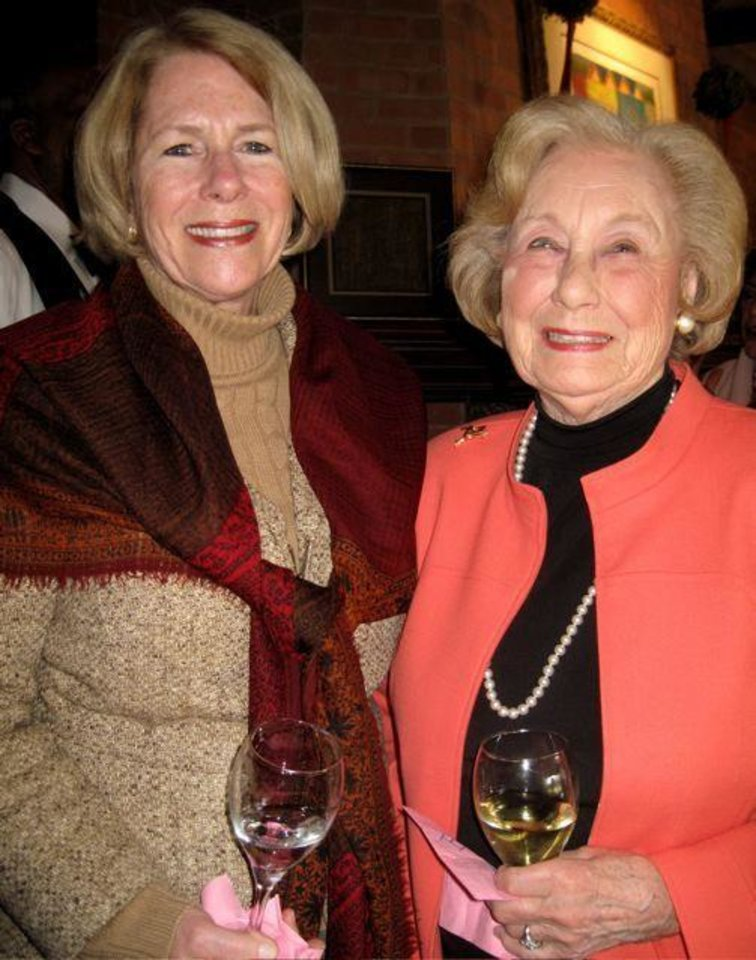 SUGAR AND SPICE.....Kathy Walker and her mother, Rosemary Scalpone,  were at the party. (Photo by Helen Ford Wallace)