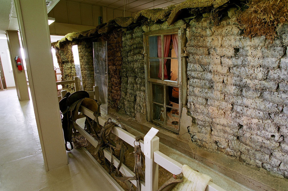 """Photo - The Sod House Museum in Aline, near Cleo Springs, features the only sod house built by a homesteader that still stands in Oklahoma, a two-room """"soddy"""" built in 1894. PHOTOS PROVIDED"""