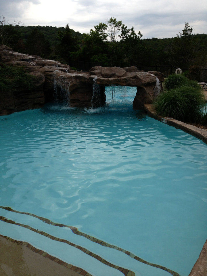 The pool and grotto. PHOTO BY DONALD BRANCH <strong></strong>