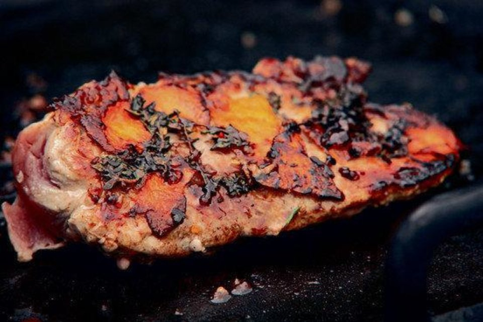 Photo - Chef Francis Mallmann's Pork Tenderloin with Burnt Brown Sugar, Orange Confit and Thyme. Photo by Santiago Solo Monllor