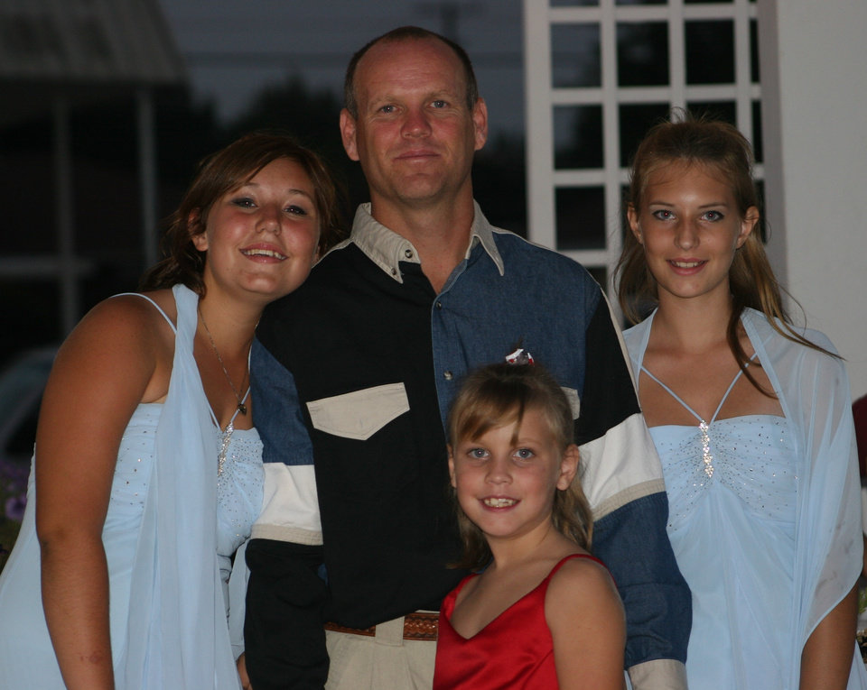 Katy Farmer(14), Kenzie McCoy (8), Kristen McCoy(12)Robert McCoy family picture at a QuinCeneta Party in Oklahoma City<br/><b>Community Photo By:</b> Janna McCoy<br/><b>Submitted By:</b> Janna, Choctaw
