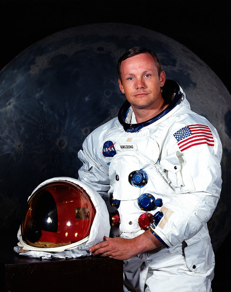 "FILE - This undated file photo provided by NASA shows Neil Armstrong. The family of Neil Armstrong, the first man to walk on the moon, says he died Saturday, Aug. 25, 2012, at age 82. A statement from the family says Armstrong died following complications resulting from cardiovascular procedures. It doesn't say where he died. Armstrong commanded the Apollo 11 spacecraft that landed on the moon July 20, 1969. He radioed back to Earth the historic news of ""one giant leap for mankind."" Armstrong and fellow astronaut Edwin ""Buzz"" Aldrin spent nearly three hours walking on the moon, collecting samples, conducting experiments and taking photographs. In all, 12 Americans walked on the moon from 1969 to 1972. (AP Photo/NASA)"