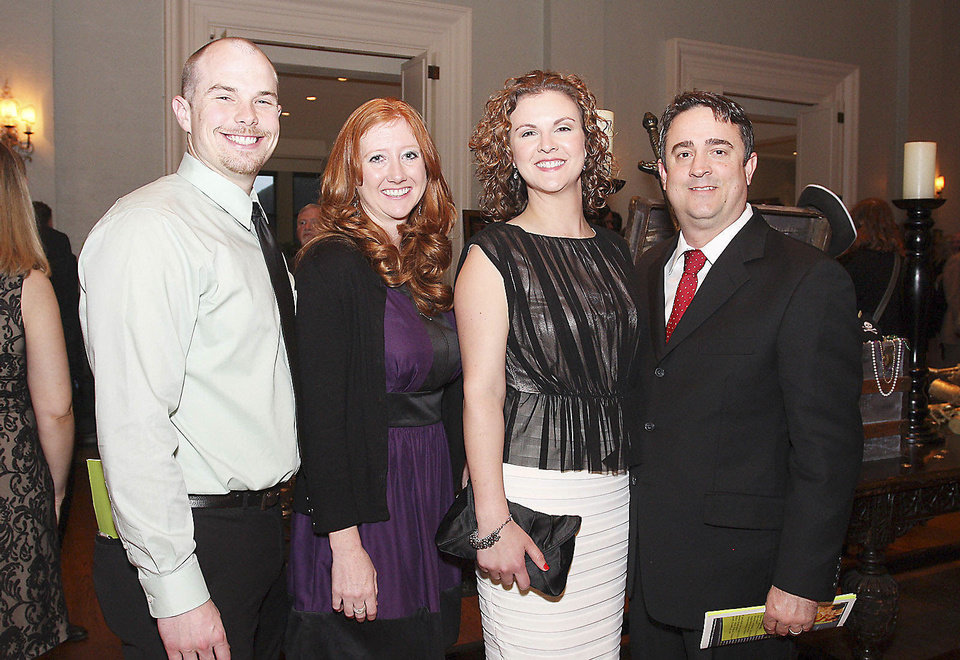 Chris and Denae Allen, Lauren and Tom Connell.  PHOTO BY DAVID FAYTINGER, FOR THE OKLAHOMAN