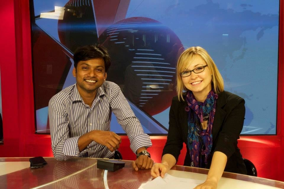 Devashish and me at Somoy TV