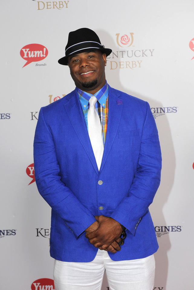Photo - Ken Griffey Jr. is photographed at the 140th Kentucky Derby Saturday, May 3, 2014 in Louisville Ky. (Photo by Joe Imel/Invision/AP)