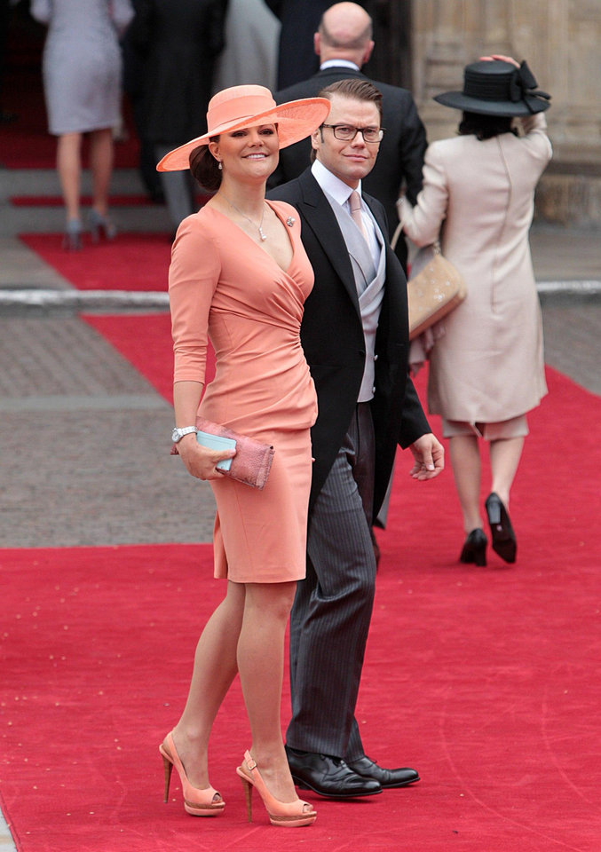 Photo - Sweden's Crown Princess Victoria and Prince Daniel arrive at Westminster Abbey in London where Britain's Prince William and Kate Middleton will marry, Friday April 29, 2011. (AP Photo/PA, Lewis Whyld) UNITED KINGDOM OUT NO SALES NO ARCHIVE ORG XMIT: RWBJ807