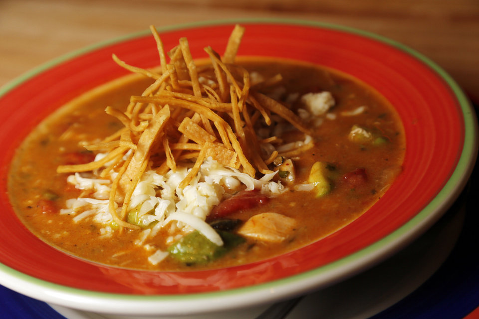 Big Bend Tortilla Soup at Redrock Canyon Grill in Oklahoma City, Monday, Nov. 5, 2012. Photo by Nate Billings, The Oklahoman