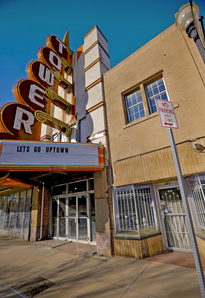 Marty Dillon, owner of the Tower Theatre, opposes plans to open a live music venue to the east of the theater, noting it won't have any parking. <strong>CHRIS LANDSBERGER</strong>