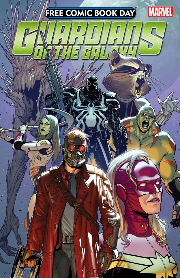 """Photo - Marvel's """"Guardians of the Galaxy,"""" set for a movie on Aug. 1, gets a comic book release on Free Comic Book Day.   Photo provided by  Marvel Comics"""
