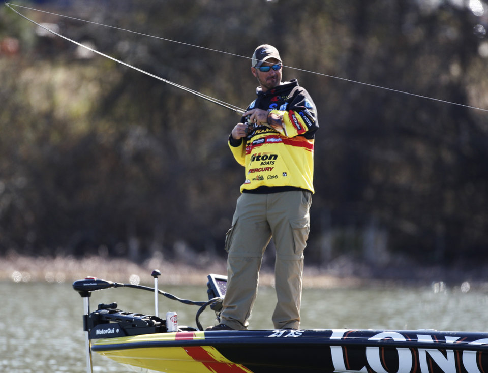 Photo -  Jeff Kriet of Ardmore, a former runner-up in the Bassmaster Classic, will be teaching at The Bass University Saturday and Sunday in Tulsa.
