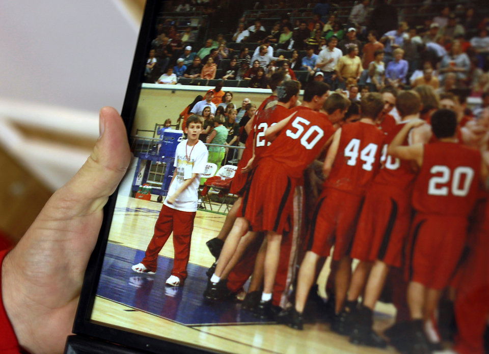 HIGH SCHOOL BASKETBALL: Pictured at left, Washington High School player Jesse Nixon was in elementary school and a ball boy for the high school team when the 2006 Warriors lost to Blake Griffin and Oklahoma Christian School during the state championship game at the State Fair Arena in 2006. Photo by John Clanton, The Oklahoman ORG XMIT: KOD
