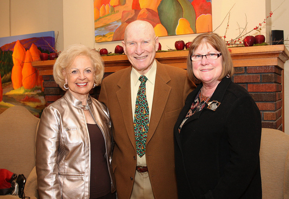 Betty Price, Arthur Newman, Gail Kana Anderson. PHOTO BY DAVID FAYTINGER, FOR THE OKLAHOMAN <strong></strong>