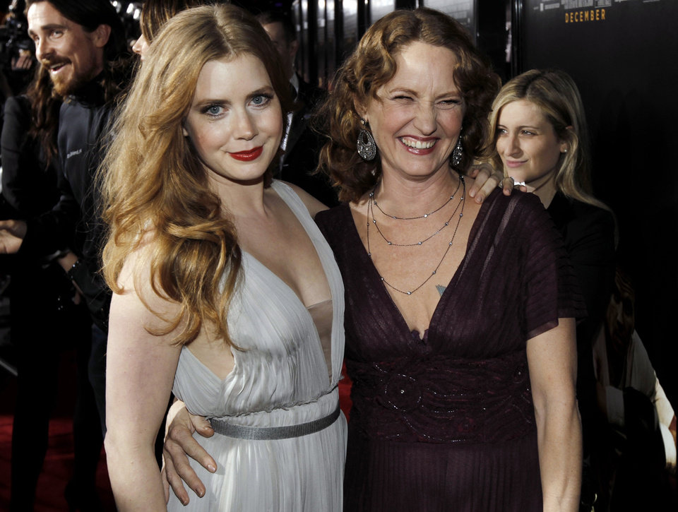 """Photo -  Cast members Melissa Leo, right, and Amy Adams pose together at the premiere of """"The Fighter"""" in Los Angeles on Monday, Dec. 6, 2010.  (AP Photo/Matt Sayles) ORG XMIT: CAMW129"""