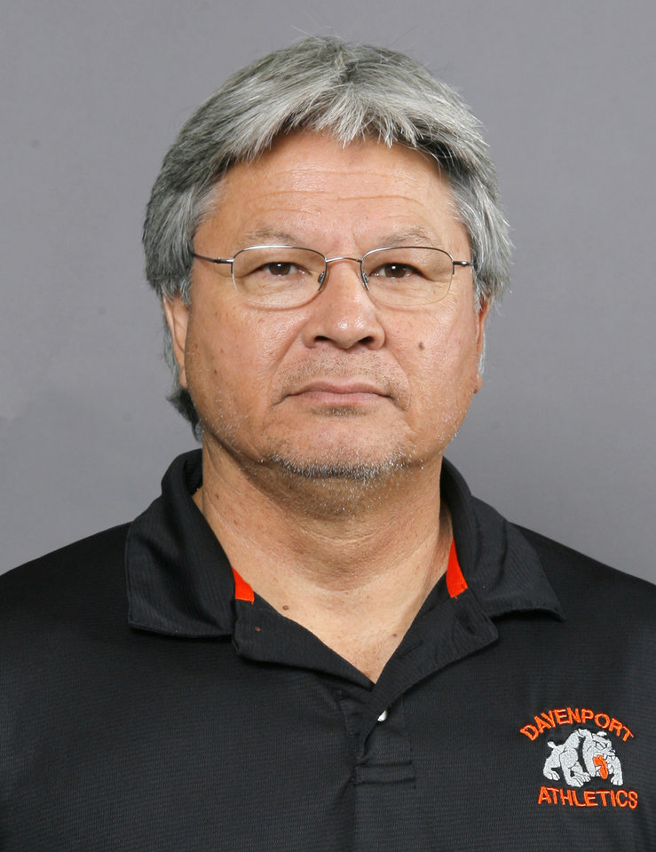 Davenport football coach John Greenfield.