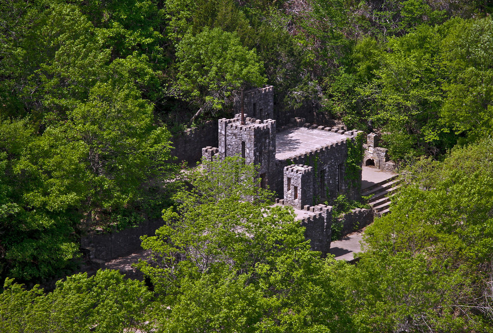 COLLINGS CASTLE / ELLSWORTH COLLINGS: The historic Collings Castle located in Turner Falls Park on Thursday, April 14, 2011, in Davis, Okla. Photo by Chris Landsberger, The Oklahoman ORG XMIT: KOD