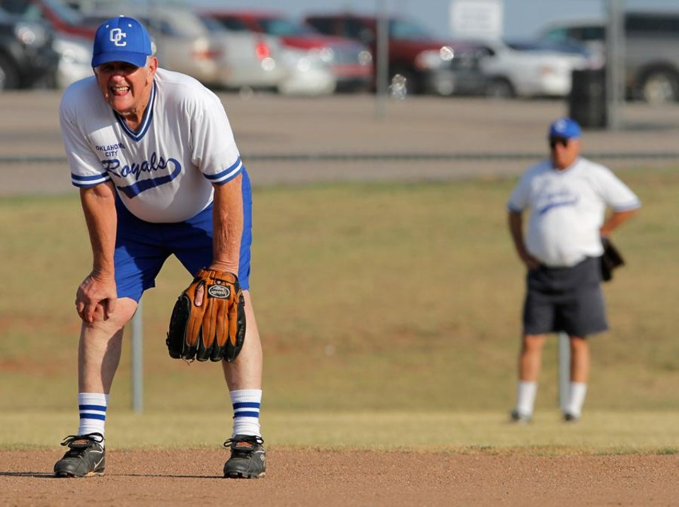 Jimmy Richardson gets ready for action during a game at the Plex in Oklahoma City, July 19, 2011. Photo by Garett Fisbeck, The Oklahoman