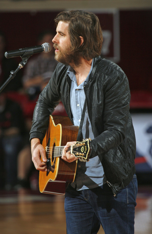 Photo - Singer, songwriter and Oklahoma native Graham Colton performs his new Sooners tribute song