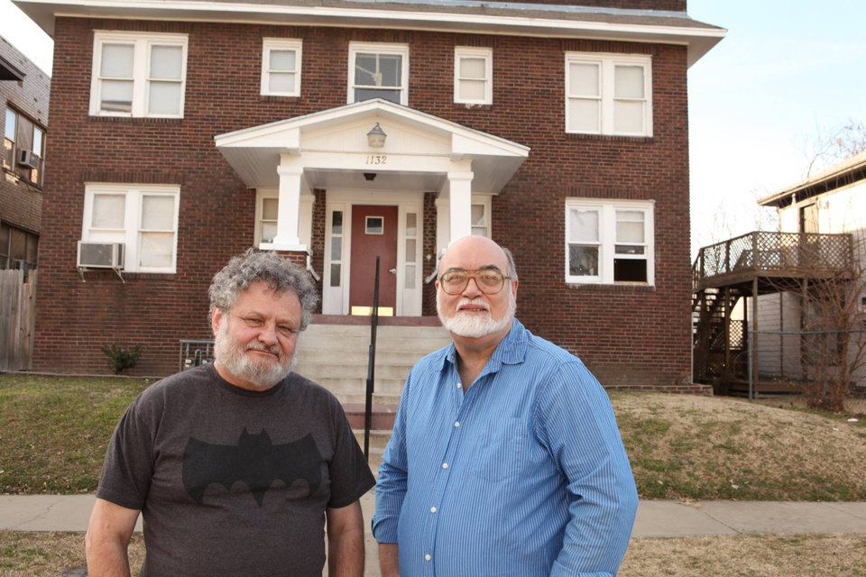 Photo -  Michael Vance, left, and R.A. Jones are set for Tulsa's Collector Con. [Photo provided]