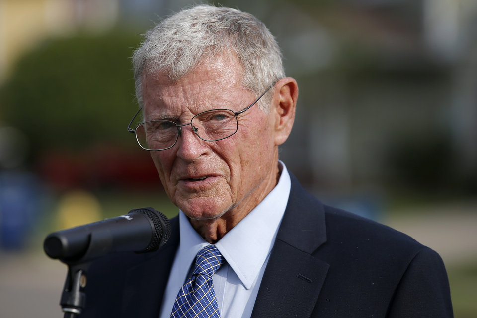 Photo - U.S Sen. Jim Inhofe . [Bryan Terry/The Oklahoman]