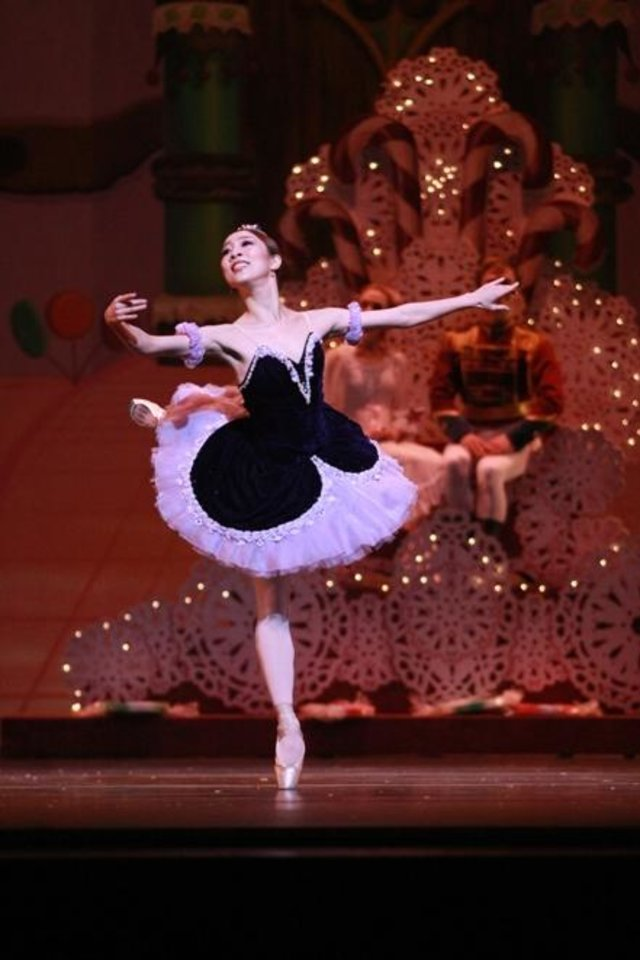 "Photo -  DaYoung Jung appears as the Sugar Plum Fairy in Oklahoma City Ballet's production of ""The Nutcracker."" Photo by Rocky Chen."