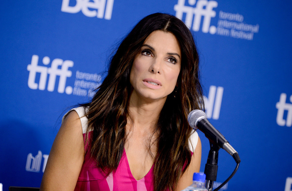 "Photo - Actress Sandra Bullock attends the press conference for ""Gravity"" on day 5 of the 2013 Toronto International Film Festival at the TIFF Bell Lightbox on Monday, Sept. 9, 2013 in Toronto. (Photo by Evan Agostini/Invision/AP) ORG XMIT: TOEA109"