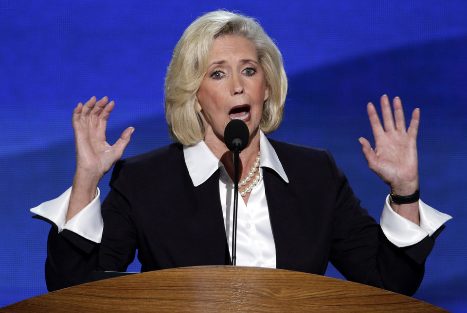 Photo - Women's rights activist Lilly Ledbetter addresses the Democratic National Convention in Charlotte, N.C., on Tuesday, Sept. 4, 2012. (AP Photo/J. Scott Applewhite)