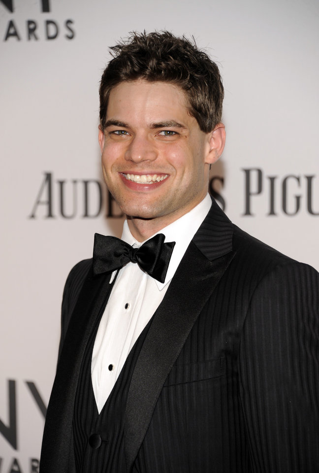 Photo -   Jeremy Jordan arrives at the 66th Annual Tony Awards on Sunday June 10, 2012, in New York. (Photo by Evan Agostini /Invision/AP)