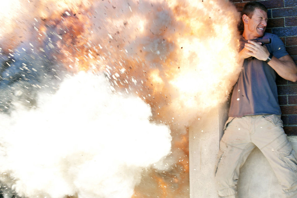 "Philip Winchester is shown in his close-up scene with a grenade in ""Strike Back."" CINEMAX PHOTO <strong></strong>"