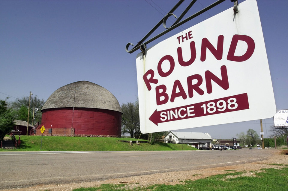 This is for the upcoming Arcadia School Annexation series, scheduled to run April 27,28,29.   Route 66 leading into the west side of Arcadia at the round barn.  Staff photo by Paul B. Southerland