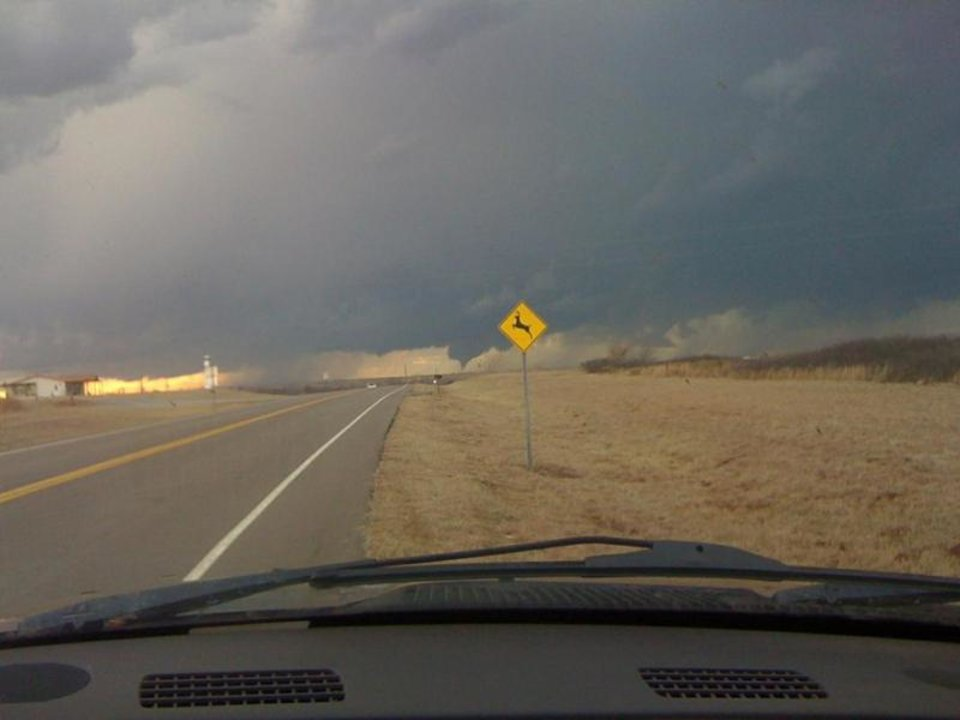Photo - Tornado in Western Oklahoma.  User-submitted by Matt Spradlin.
