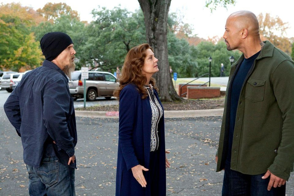 "From left, Barry Pepper, Susan Sarandon and Dwayne Johnson appear in a scene from ""Snitch."" Summit Entertainment photo <strong></strong>"