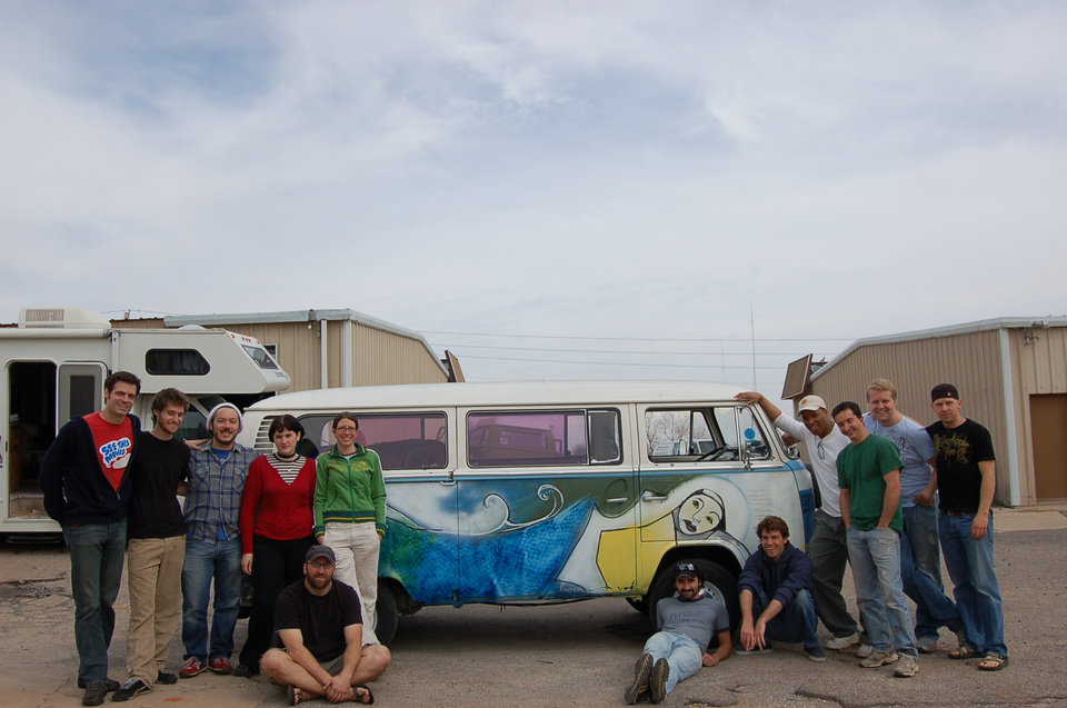 "Photo taken by artist Matt Josef in Oklahoma City in 2007 when Matt painted ""The Croc"" a broken-down Volkswagen van in the Paseo district. The van is now in a new documentary called ""Circle the Wagen."""