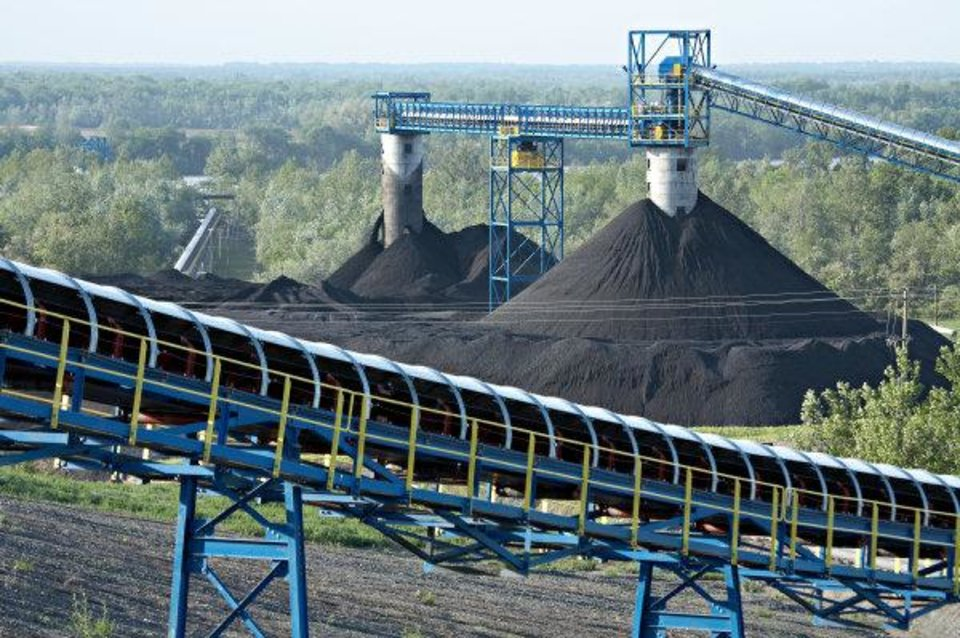 Coal is stockpiled at Alliance\'s River View operation in Kentucky in 2010. - provided