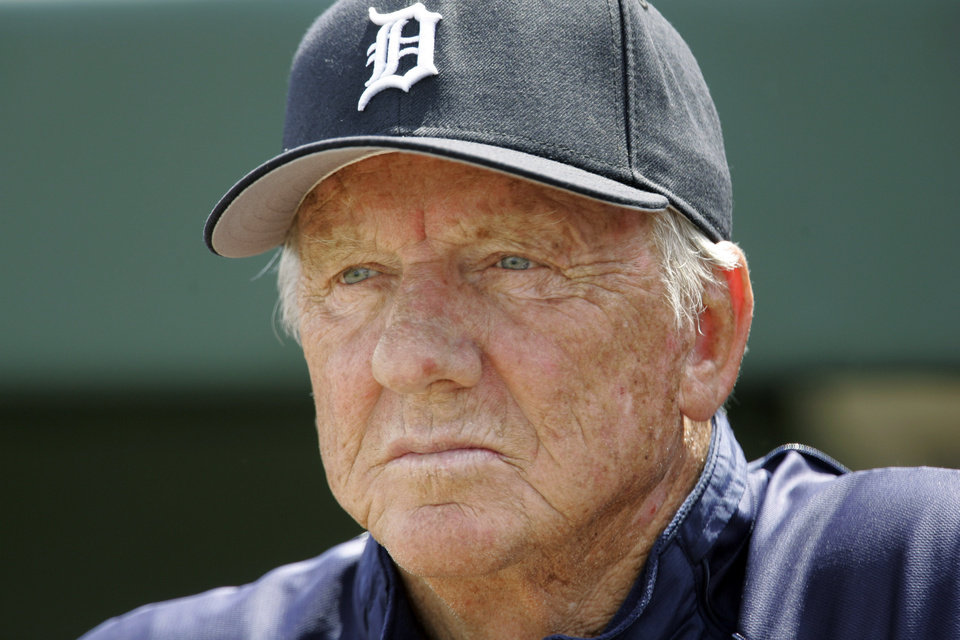FILE - In this March 18, 2008, file photo, Detroit Tigers Hall of Famer Al Kaline watches a spring training baseball game between the Tigers and the Washington Nationals in Lakeland, Fla. For only the second time in four decades, baseball writers failed to give any player the 75 percent required for induction to the Hall of Fame on Wednesday, Jan. 9, 2013, sending a powerful signal that stars of the Steroids Era will be held to a different standard.