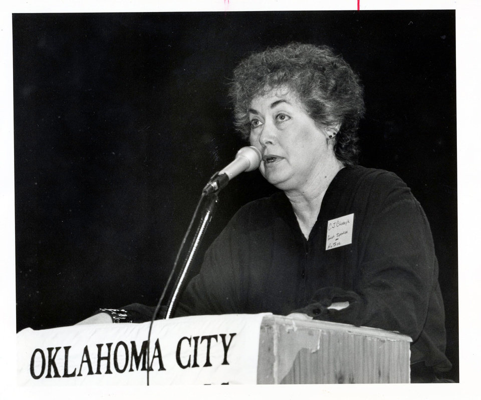 Photo - CAROLYN CHERRY / C.J. CHERRYH / AUTHOR    Staff Photo by Roger Klock (Original photo has no negative date listed, published 12/2/1991 in The Daily Oklahoman C)