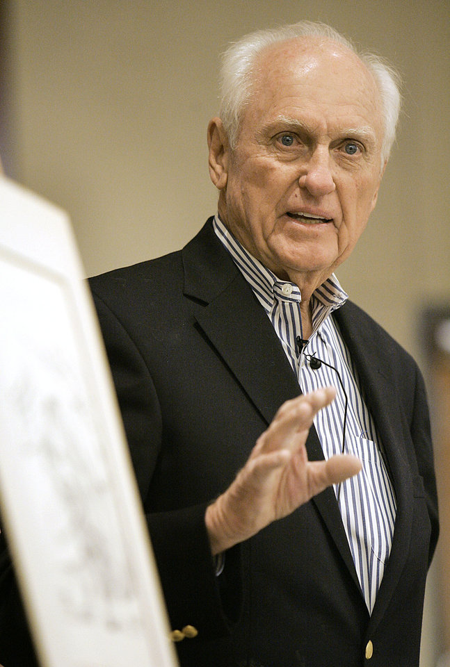 Photo - Former Gov. David Hall [Photo by Jaconna Aguirre, The Oklahoman Archives]