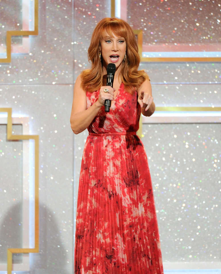 Photo - Host Kathy Griffin speaks on stage at the 41st annual Daytime Emmy Awards at the Beverly Hilton Hotel on Sunday, June 22, 2014, in Beverly Hills, Calif. (Photo by Chris Pizzello/Invision/AP)