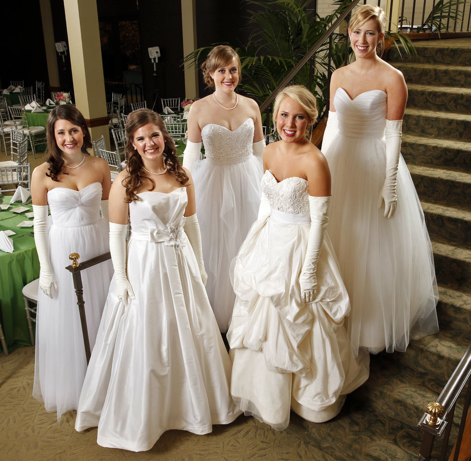 Photo - Debutantes of the Beaux Arts Ball Phoebe Bess Mitchell, Vivian Mallory O'Hara, Charlotte Nicole Cheek, Katherine Cavanaugh Boecking, Molly Elizabeth Brown are seen on Saturday, Nov. 30, 2013, in Oklahoma City Okla.  Photo by Steve Sisney, The Oklahoman  STEVE SISNEY - THE OKLAHOMAN