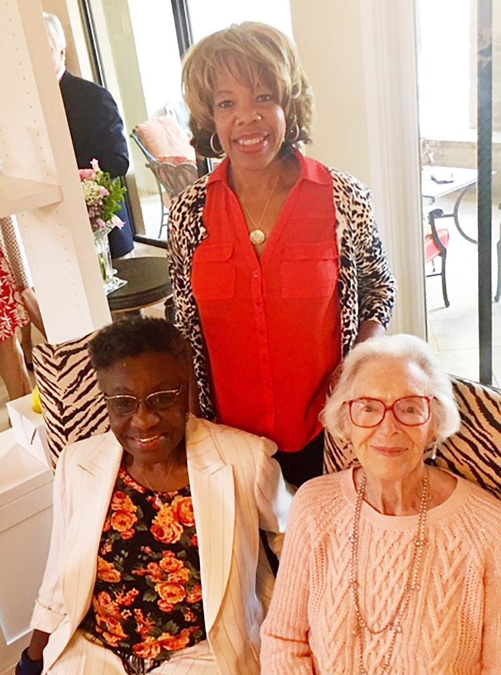 Photo -  Willa Johnson, Joan Gilmore, seated, Kitti Asberry, standing. PHOTO PROVIDED