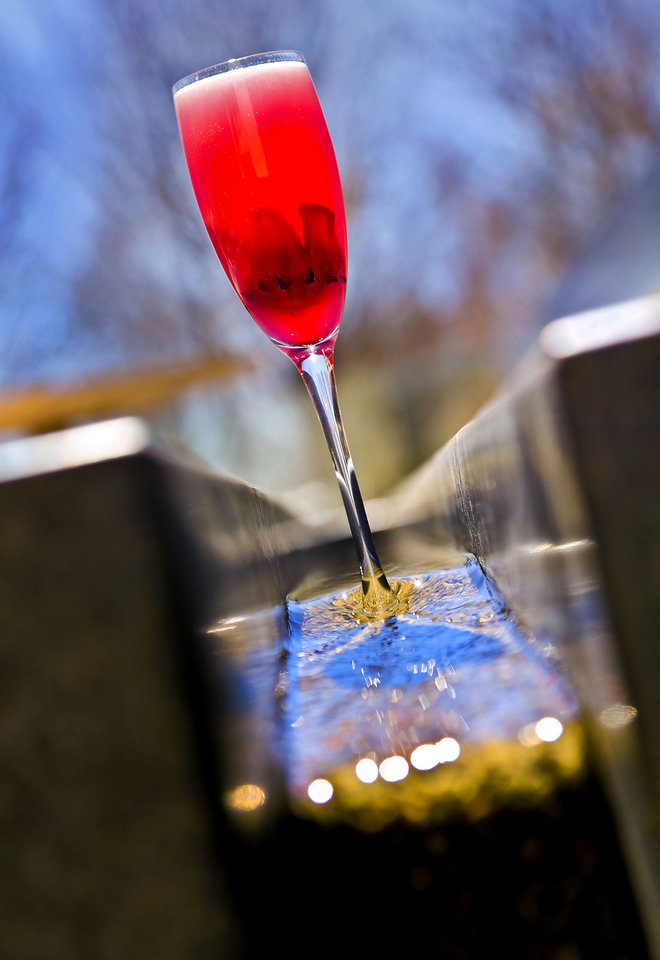 Red Champagne in the new Flint patio area, which opens in time for St. Patrick's Day. <strong>CHRIS LANDSBERGER - CHRIS LANDSBERGER</strong>