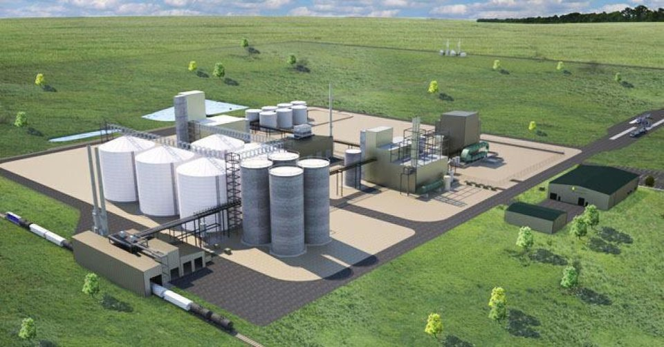 An artist\'s rendering of a canola processing plant planned for Enid. Photo provided