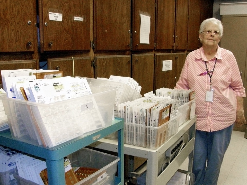 Dorthea Copeland has been running Pottawatomie County\'s free medical clinic for 14 years. Photo by Warren Vieth, Oklahoma Watch.