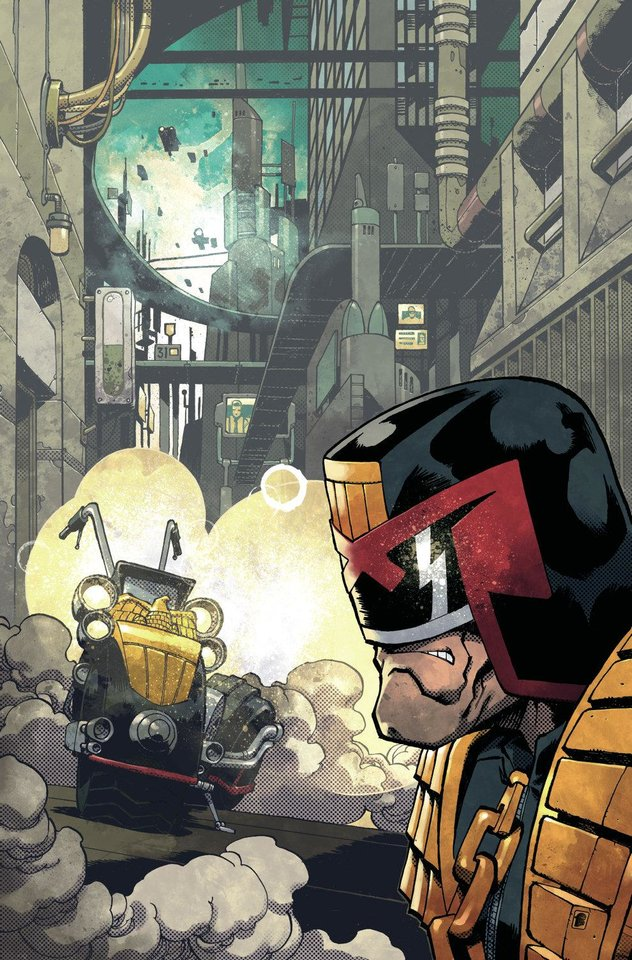 "Art for ""Judge Dredd."" IDW Publishing. <strong></strong>"