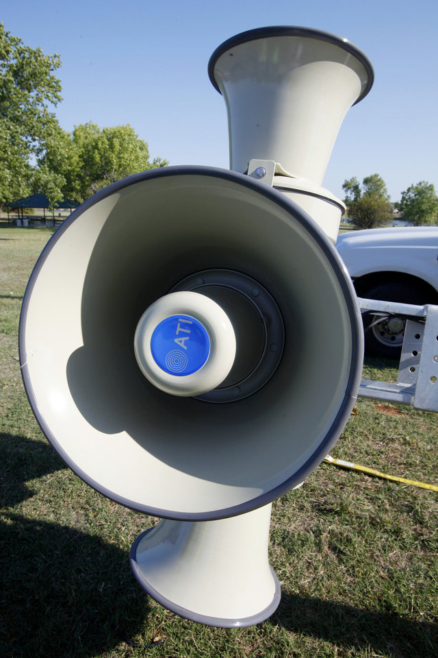 Del City�s new tornado warning system was funded by a bond issue.