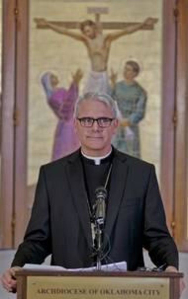 Photo -  Archbishop Paul Coakley has directed Catholic parishes to lead a campaign of prayer in opposition to the 'black mass.'
